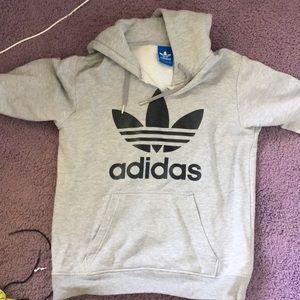Addidas sweatshirt (cut into v neck)